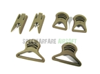 Picture of EMERSON OP Type FAST Helmet 19/36mm Goggles Swivel Clips TAN