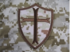 Picture of Devgru Cross Crusader Shield Verlco Patch AOR1 lbt