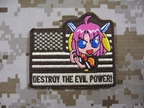 Picture of Devgru DESTORY THE EVIL POWER!US FLAG Patch Tan
