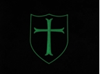 Picture of Devgru CROSS Shield PVC GLOW Patch mbss mlcs aor1 lbt