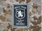 Picture of DEVGRU Gold Team White Lion PVC GLOW Patch (Black) aor1 navy seal