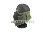 Picture of Strike Steel Half Face Mesh Mask Version 4 (Olive Drab) For Airsoft