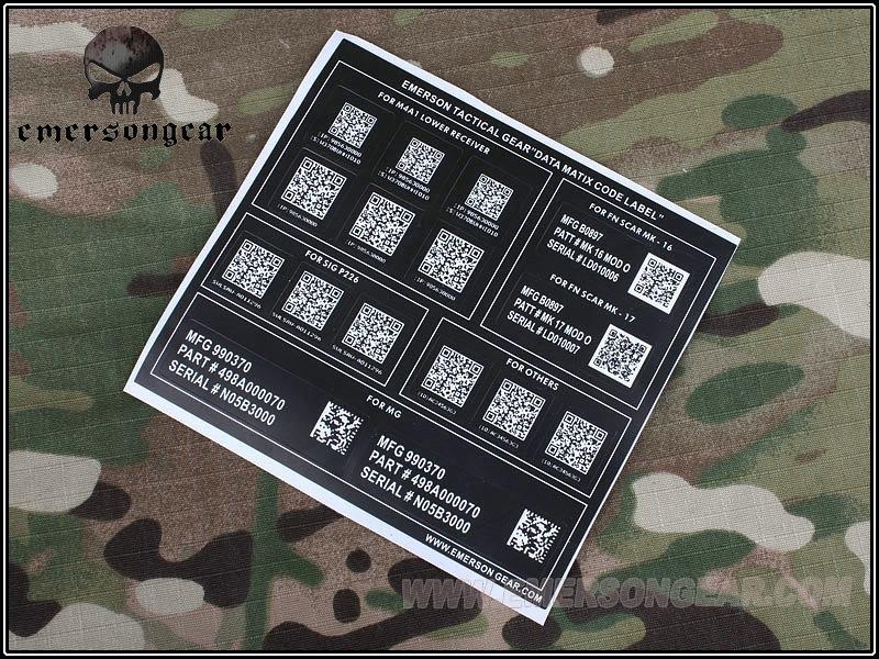 Picture of Emerson Devgru NSW Airsoft Matrix Code Sticker Gen I