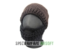 Picture of TBOC Tactical Beard Head Hat (Brown Cap, Black Beard)