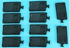 Picture of G&P Skull Frog 140rds Magazine w/ Handle (Black) for Tokyo Marui M16 Series (10pcs / Set)