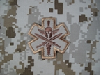 Picture of Mil-Spec Monkey Velcro Patch Tactical Medic Spartan (Desert)