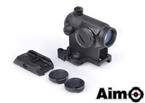Picture of AIM T1 Airsoft Red Dot Sight w/ QD High Mount Set (BK)