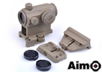 Picture of AIM T1 Airsoft Red Dot Sight w/ 3 Type Mount Set (DE)