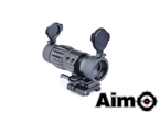 Picture of AIM ET Style 4X FXD Magnifier with Adjustable QD Mount (Black)