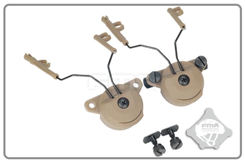 Picture of FMA EX Headset And Helmet Rail Adapter Set GEN1 (DE)