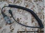 Picture of TCA NATO U283 6-PINS conversion Kenwood 2-PINS (LONG)