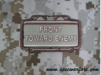 "Picture of Mil-Spec Monkey ""Front Toward Enemy"" Velcro Patch (Desert)"