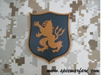 Picture of DEVGRU Red LION SHIELD PVC Patch (DE) aor1 navy seal