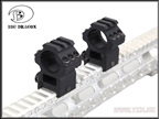 圖片 BD 25.4mm Scope Mount Set[1Rail+1Rail Style] (BK)