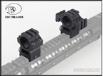 圖片 BD 25.4mm Scope Mount 2pcs1set[3rail+1rail style] (BK)