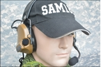 Picture of TCA COMTAC III Single Com Noise Reduction Headset For TRI / Real Mil-Spec PTT 2015 New Version (CB)