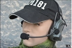 Picture of TCA COMTAC III Single Com Noise Reduction Headset For TRI / Real Mil-Spec PTT 2015 New Version (FG)