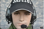 Picture of TCA COMTAC III Single Com Noise Reduction Headset For TRI / Real Mil-Spec PTT 2015 New Neckband Version (FG)