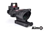 Picture of Aim ACOG 4X32C Red Dot Illumination Source Fiber With RMR Sight (BK)