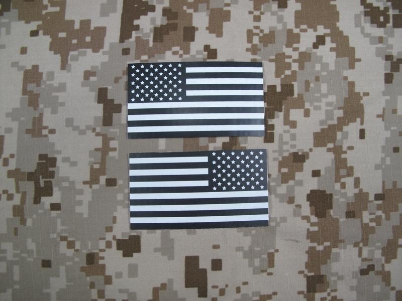 Picture Of TMC USA FLAG Reflective PVC IR Patch Set (DARK)