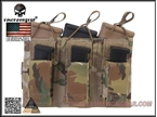 Picture of EMERSON 5.56&Pistol Triple Open Top Magazine Pouch (Multicam)
