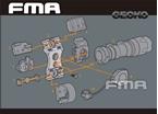 Picture of FMA UTK Helmet Accessory Mount (DE)