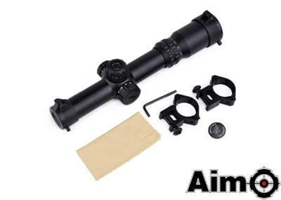 Picture of AIM 1-4 x 24SE Tactical Scope (Red / Green Reticle) (BK)
