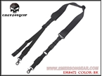 Picture of EMERSON Nylon Single Two Point Urban Rifle Sling (BK)