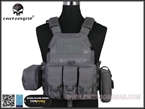 Picture of Emerson Gear LBT6094A Plate Carrier w 3 pouches (Wolf Grey)