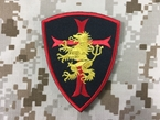 Picture of Warrior Devgru Lion Red Cross Crusader Shield Patch (BK)