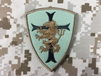 Picture of Warrior Devgru Lion Red Cross Crusader Shield Patch (Green)