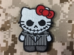 Picture of Warrior Hello Kitty x Jack Skellington Velcro Patch