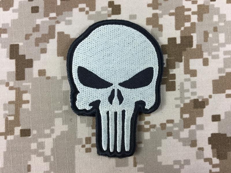 specwarfare airsoft warrior punisher skull velcro patch navy seal