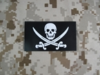 Picture of Dummy Navy SEAL Team Skull Pirate Patch Black mbss mlcs