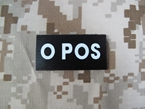 Picture of Warrior O POS Blood Type Patch IR Reflective (Free shipping)