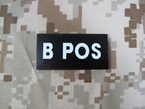 Picture of Warrior B POS Blood Type Patch IR Reflective (Free shipping)