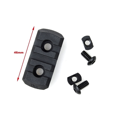 Picture of TMC M-LOCK Nylon 3 Picatinny Rail Sections (Black)