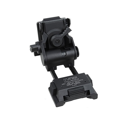 Picture of HM L4G24 NVG Helmet Mount CNC (Marking Version) (Black) Wilcox Fast Mich