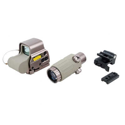 Picture of FEDOM  EOTECH Style EXPS3 Red Dot Sight + G33 3X Magnifier Set (DE)
