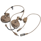 Picture of FMA FCS RAC Style Headset With 6 Pins PTT Set (DE)
