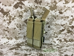 Picture of FLYYE Molle Double Open Top Mag Pouch for MP7 (Coyote Brown)