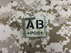 Picture of Warrior Dummy AB POS Blood Type Patch IR Reflective (Multicam) (Free shipping)