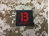 Picture of Warrior B Pos Type Blood Reflective Patch (Black-Red) (Free Shipping)