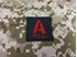 Picture of Warrior A Pos Type Blood Reflective Patch (Black-Red) (Free Shipping)