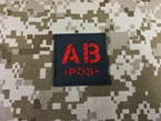 Picture of Warrior AB Pos Type Blood Reflective Patch (Black-Red) (Free Shipping)