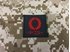 Picture of Warrior O Pos Type Blood Reflective Patch (Black-Red) (Free Shipping)