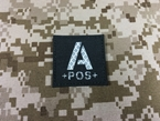 Picture of Warrior A Pos Type Blood Reflective Patch (Black-White) (Free Shipping)