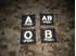 Picture of Warrior AB Pos Type Blood Reflective Patch (Black-White) (Free Shipping)