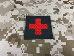 Picture of Warrior Tactical Morale First Aid Reflective Patch (Black) (Free Shipping)