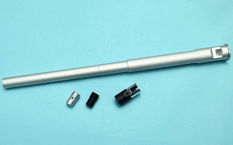 Picture of G&P 16″ Recce Rifle Barrel For Marui MWS (Silver)